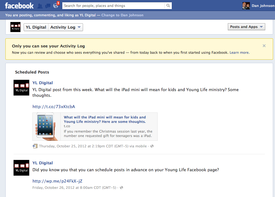 how to see scheduled posts on facebook mobile