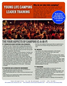 camp training for leaders 2014 - cover